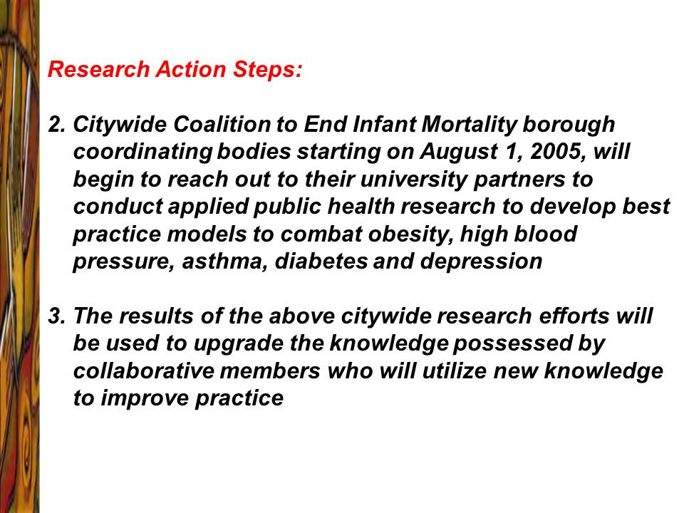 Research Action Steps: