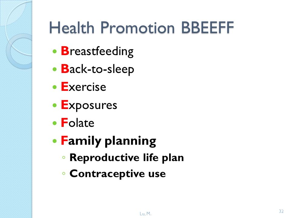 Health Promotion BBEEFF
