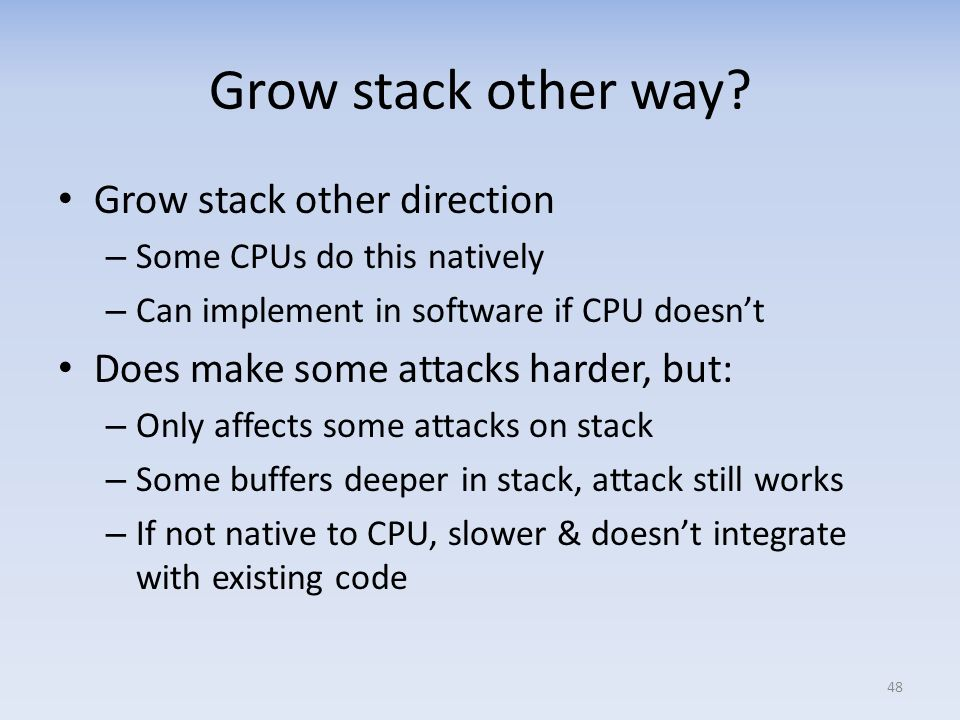 Grow stack other way Grow stack other direction
