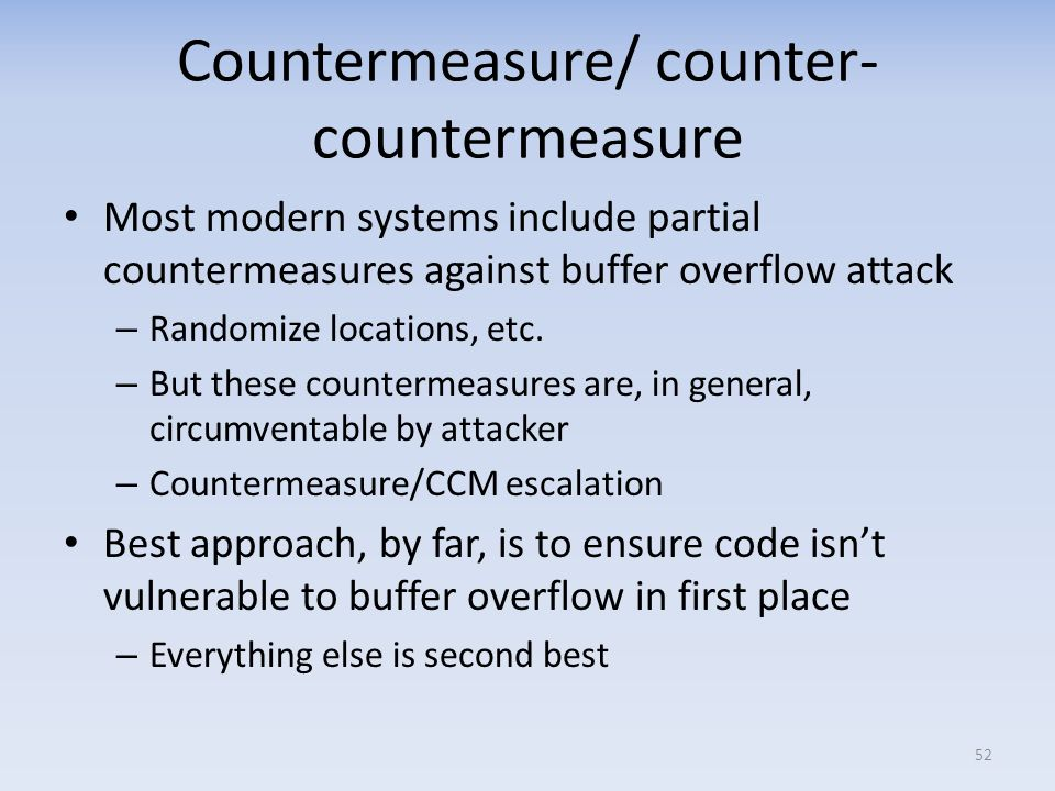 Countermeasure/ counter-countermeasure