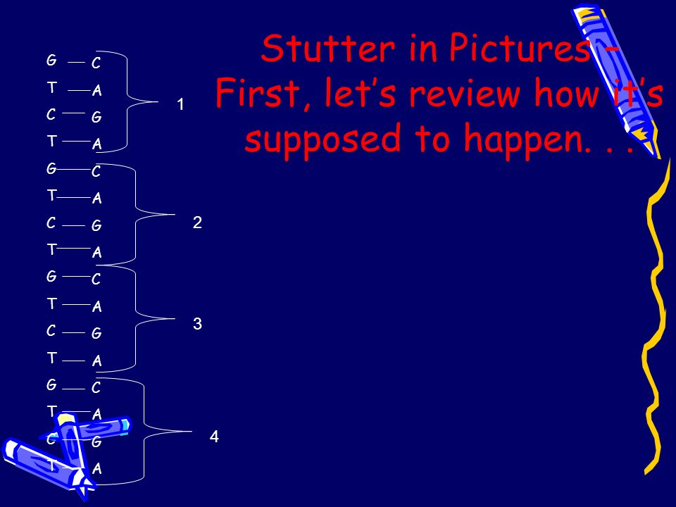 Stutter in Pictures – First, let's review how it's supposed to happen. . .