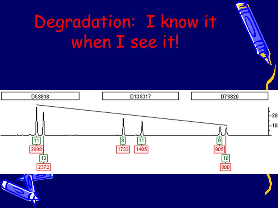 Degradation: I know it when I see it!