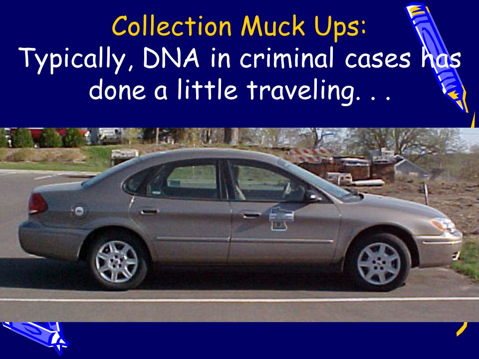 Collection Muck Ups: Typically, DNA in criminal cases has done a little traveling. . .