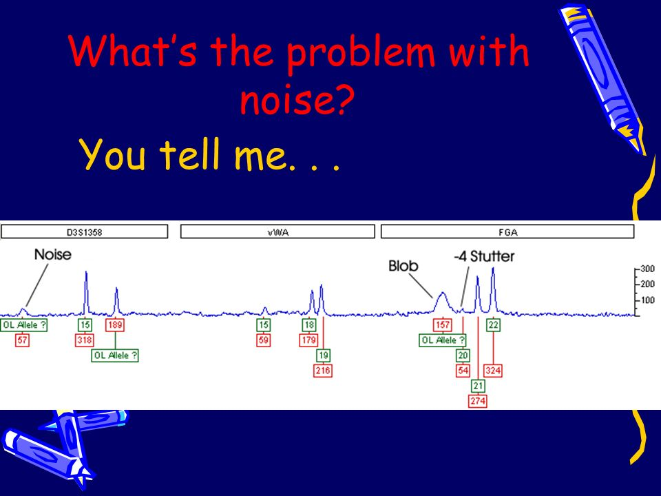 What's the problem with noise