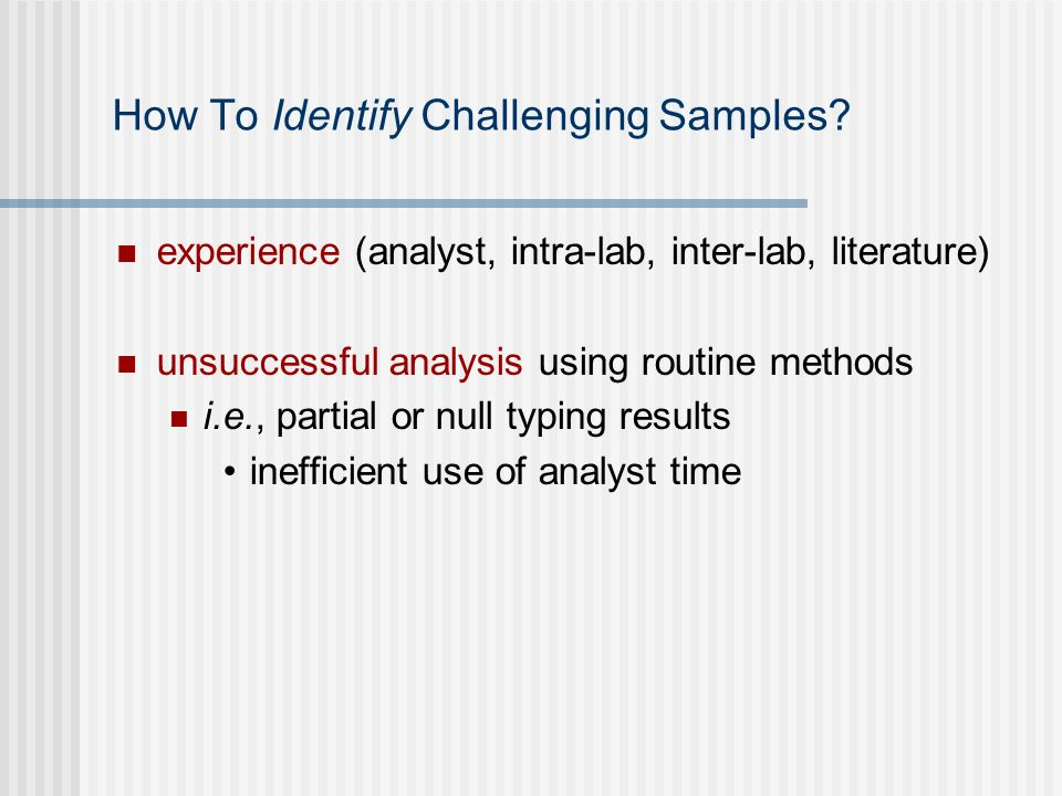 How To Identify Challenging Samples