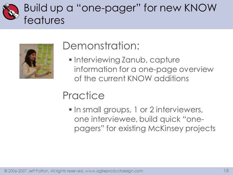 Build up a one-pager for new KNOW features