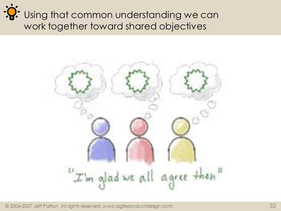 Using that common understanding we can work together toward shared objectives