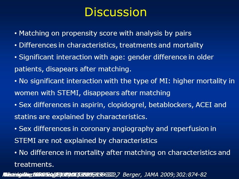Discussion Matching on propensity score with analysis by pairs