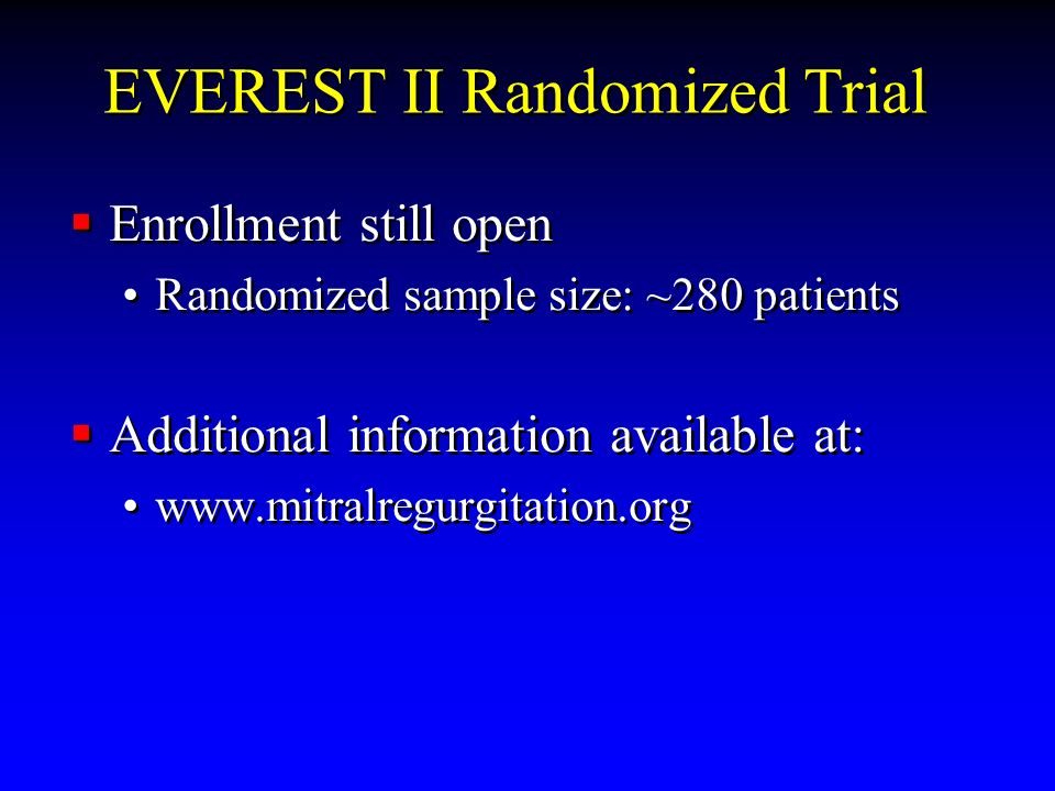 EVEREST II Randomized Trial