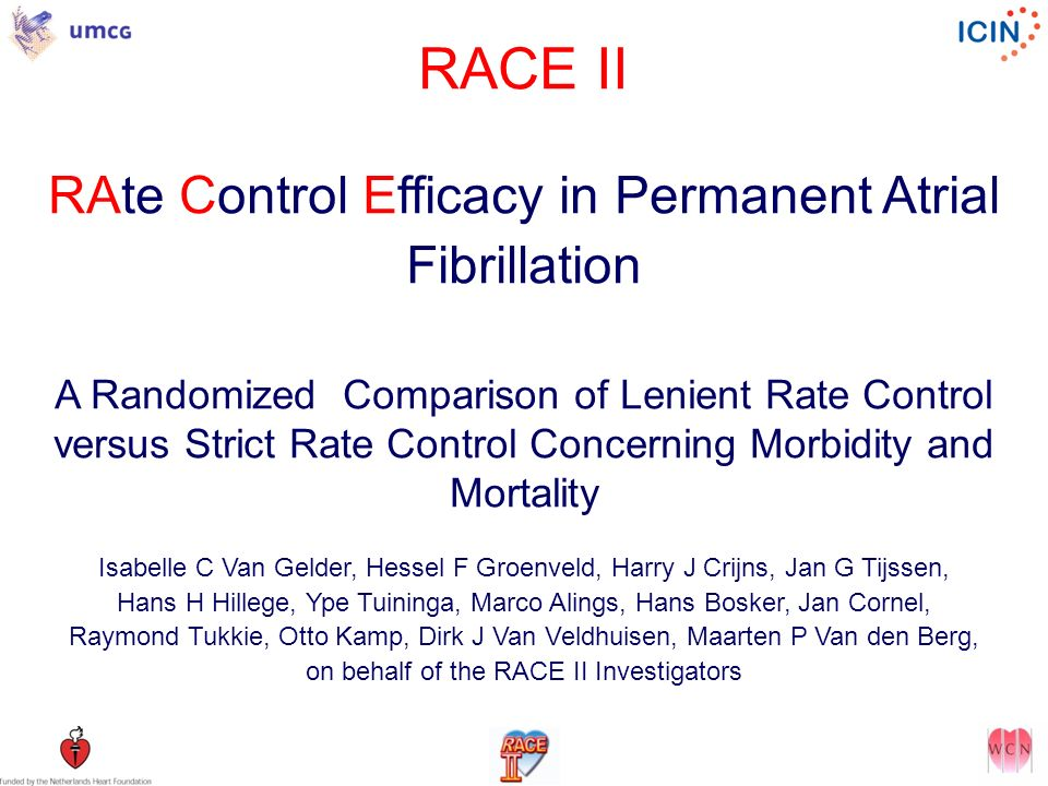 RACE II RAte Control Efficacy in Permanent Atrial Fibrillation