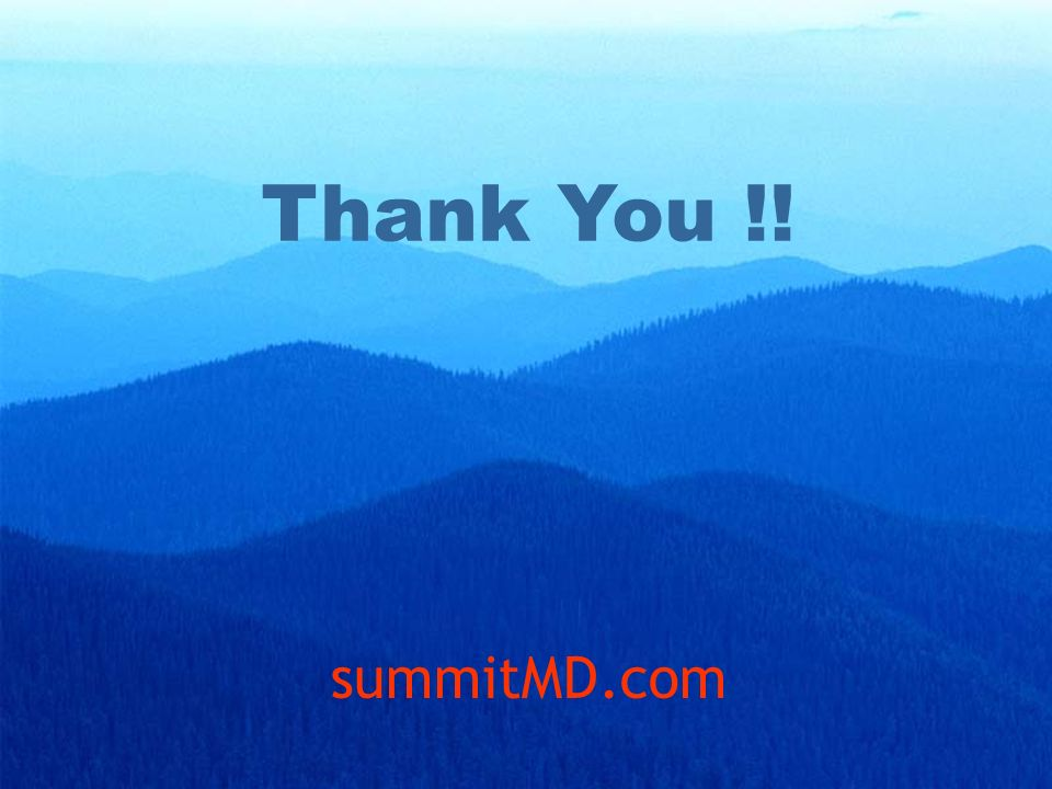 Thank You !! summitMD.com