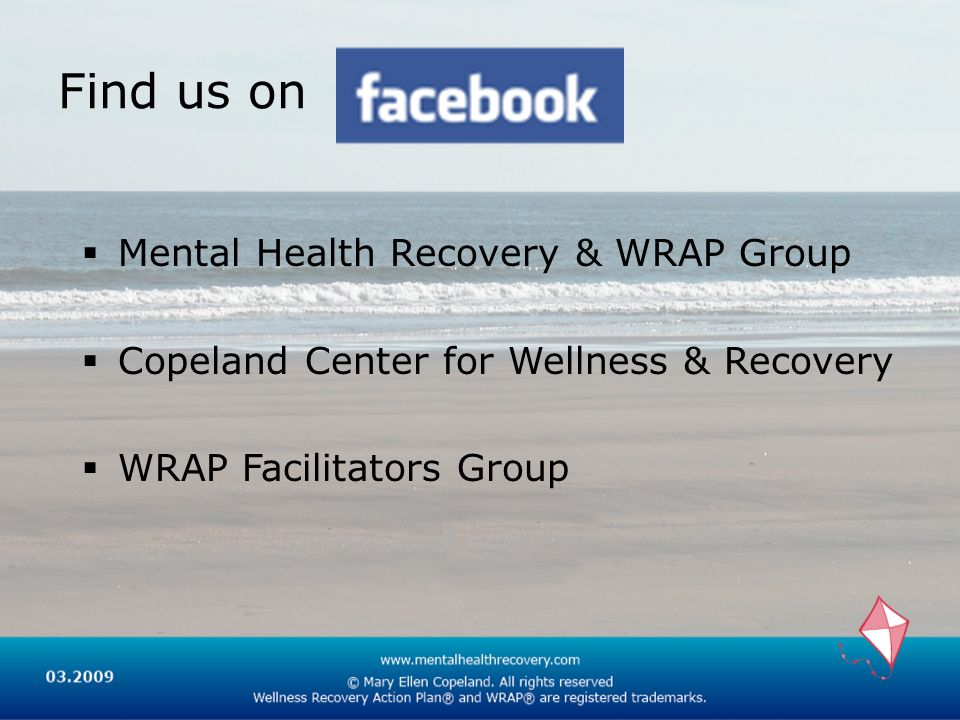 Find us on Mental Health Recovery & WRAP Group