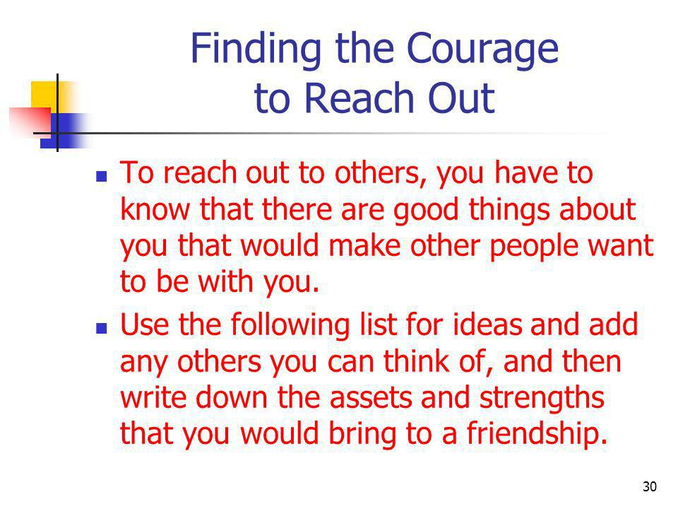 Finding the Courage to Reach Out