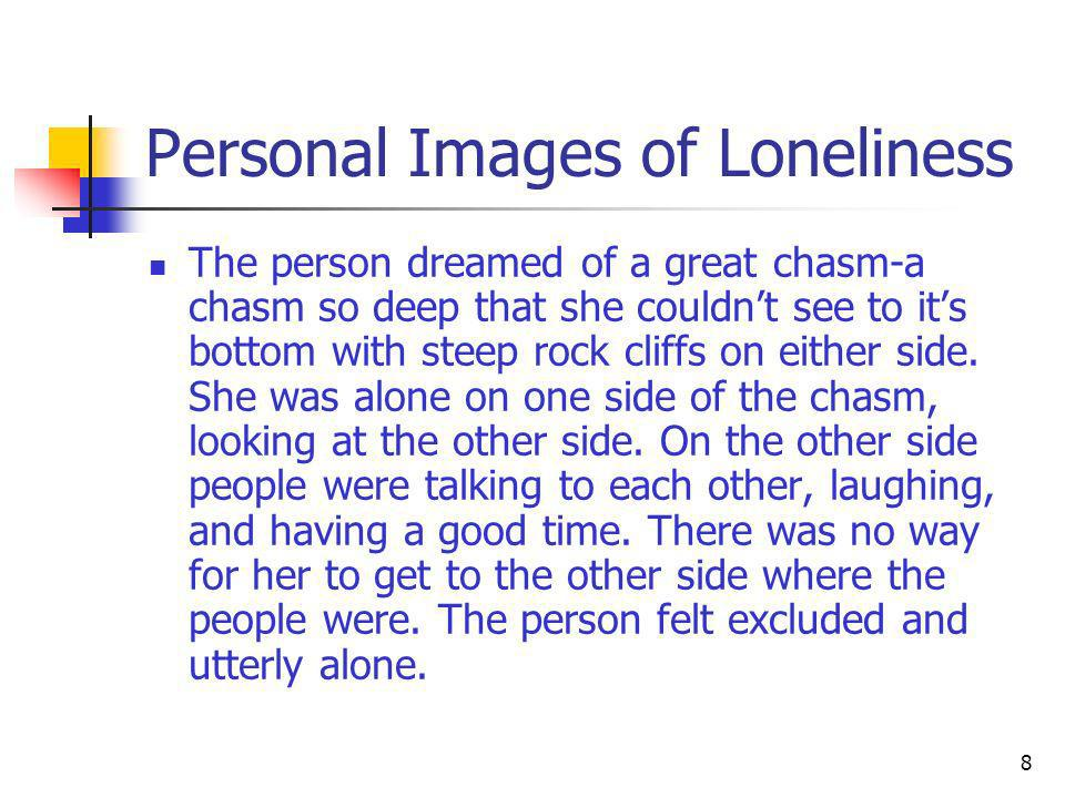 Personal Images of Loneliness