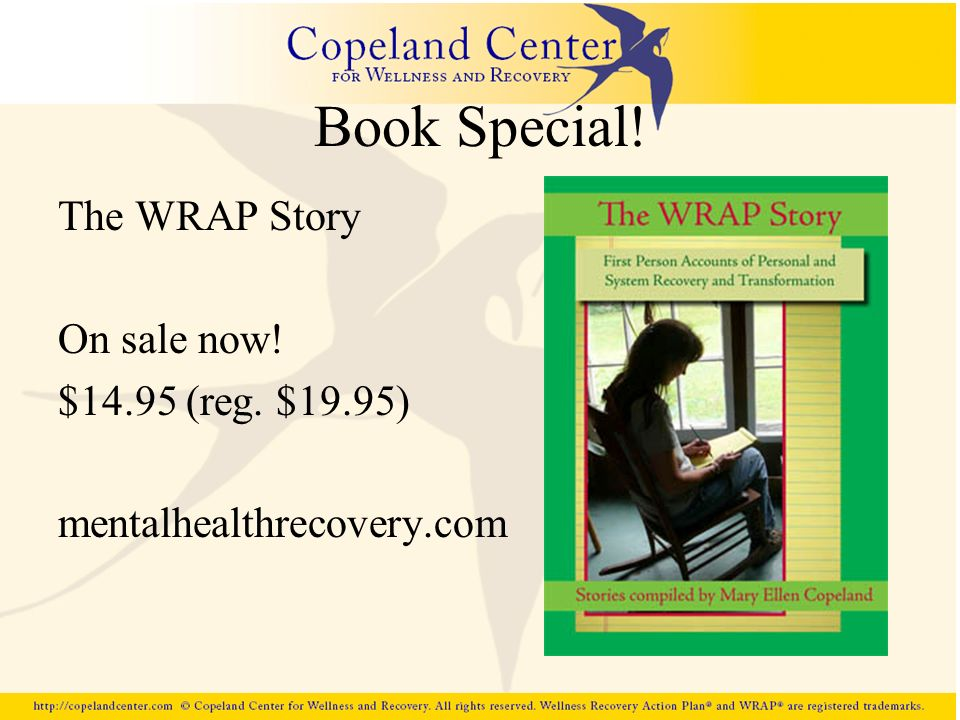 Book Special! The WRAP Story On sale now! $14.95 (reg. $19.95)