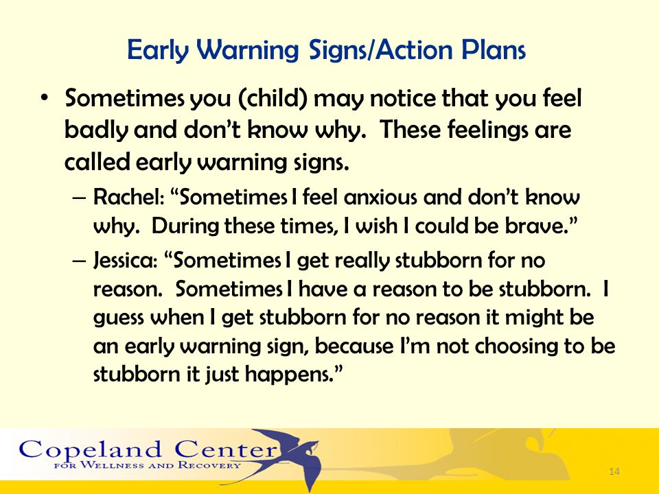 Early Warning Signs/Action Plans