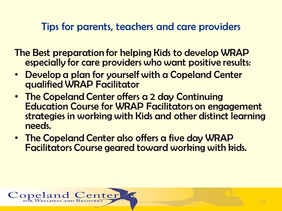 Tips for parents, teachers and care providers