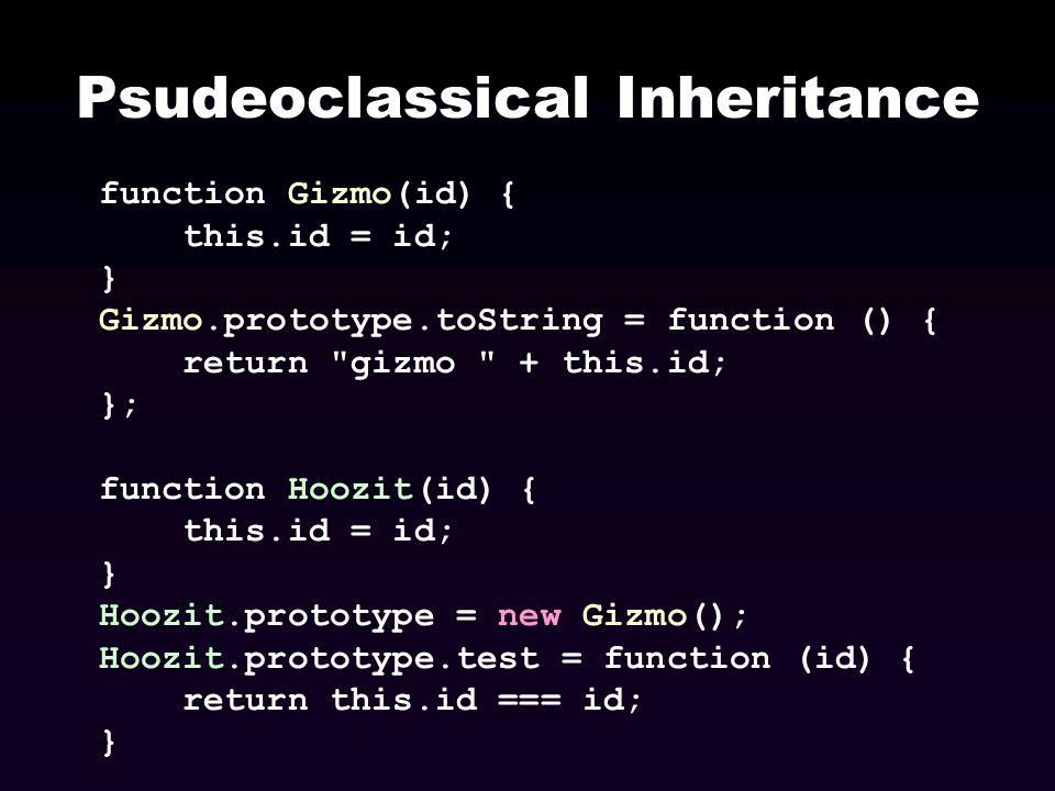 Psudeoclassical Inheritance