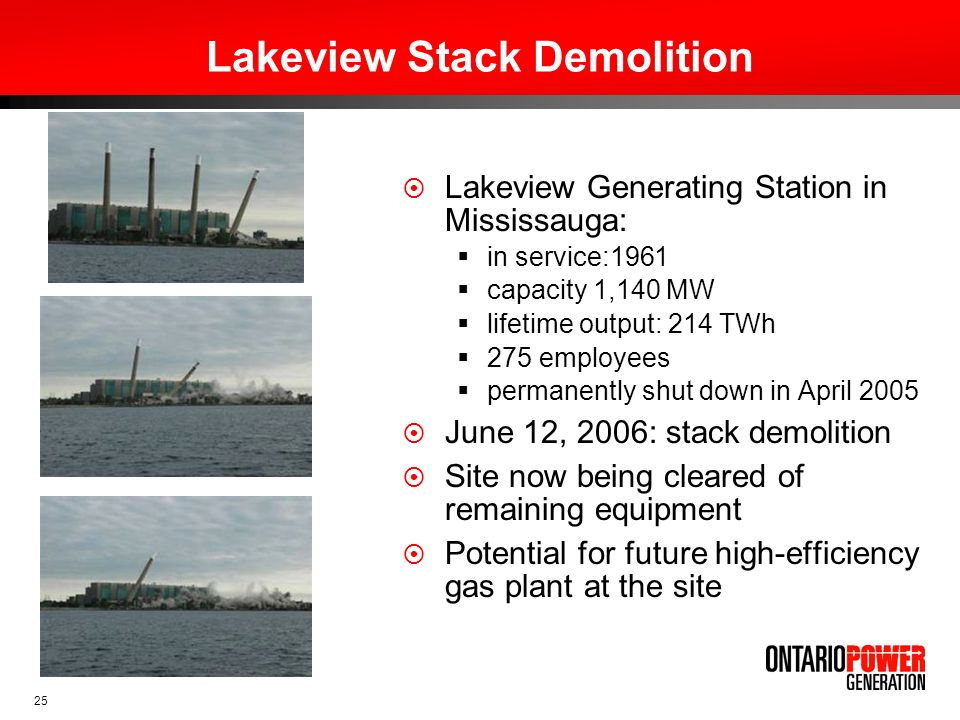 Lakeview Stack Demolition