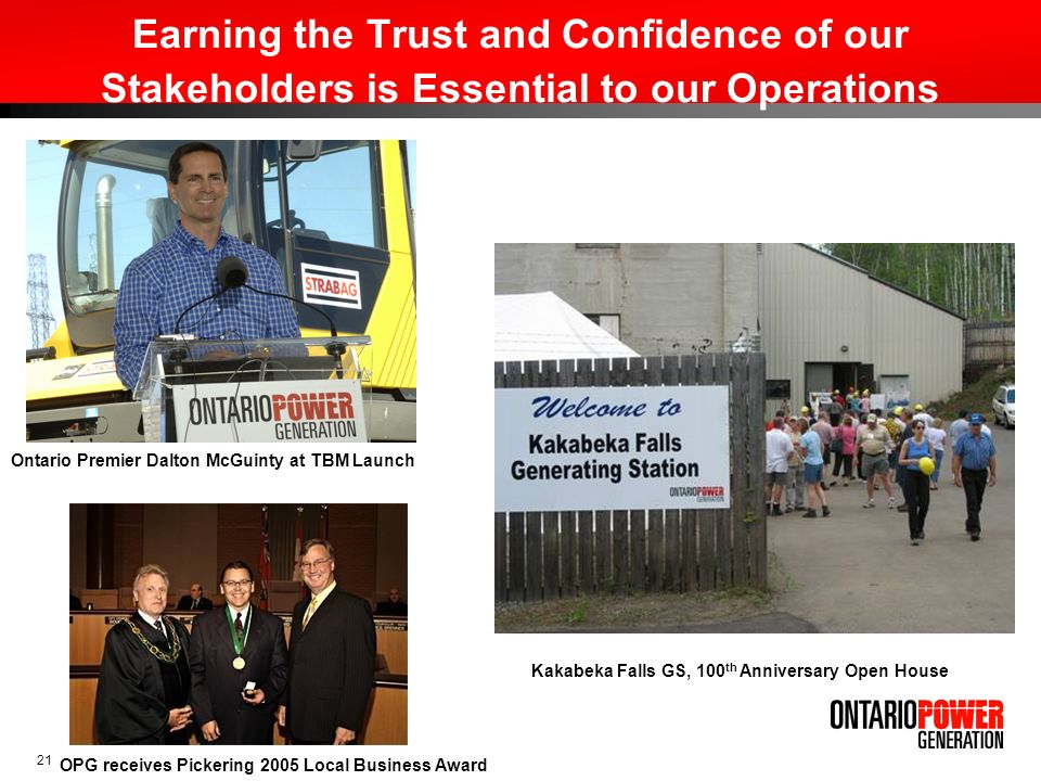Earning the Trust and Confidence of our Stakeholders is Essential to our Operations