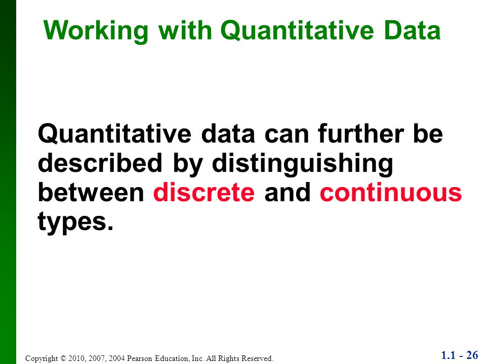 Working with Quantitative Data