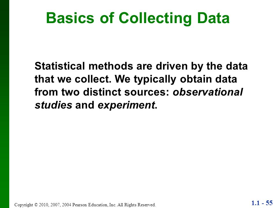 Basics of Collecting Data