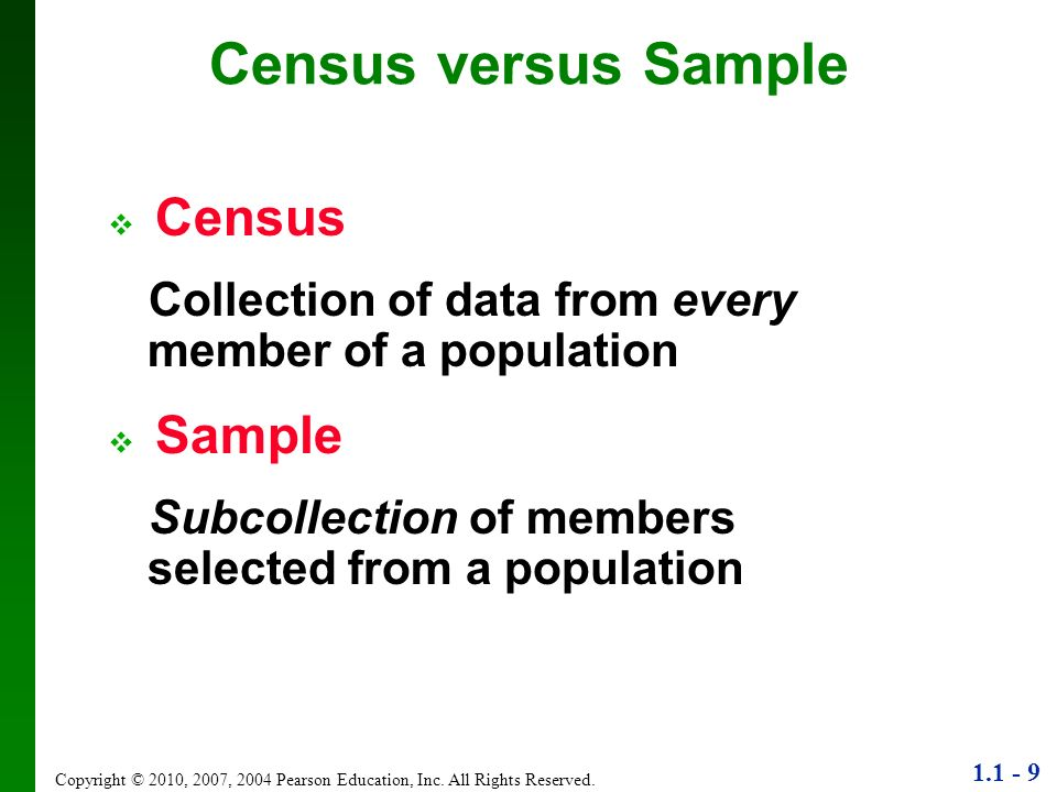 Census versus Sample Census
