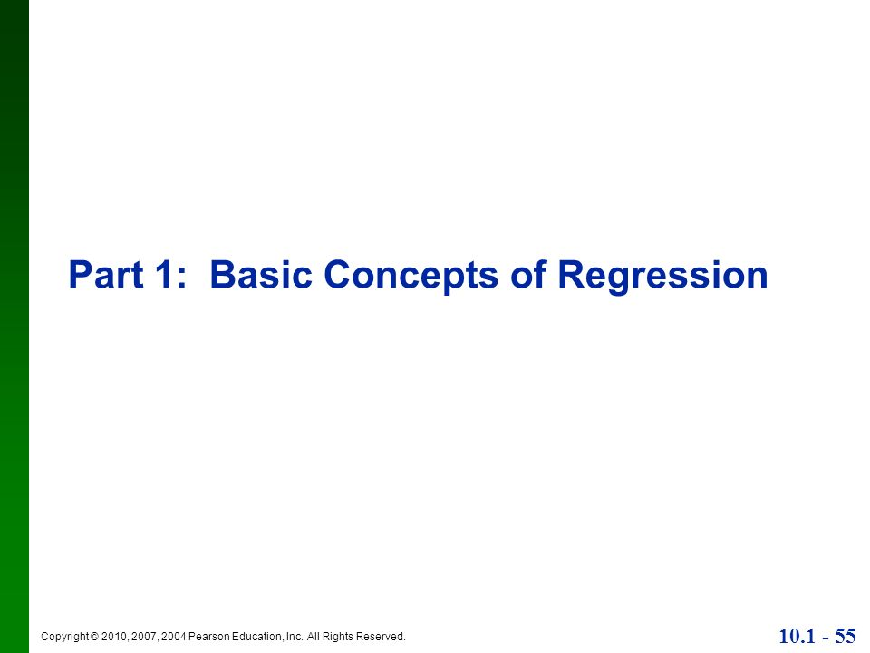 Part 1: Basic Concepts of Regression