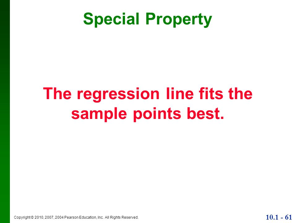 The regression line fits the sample points best.
