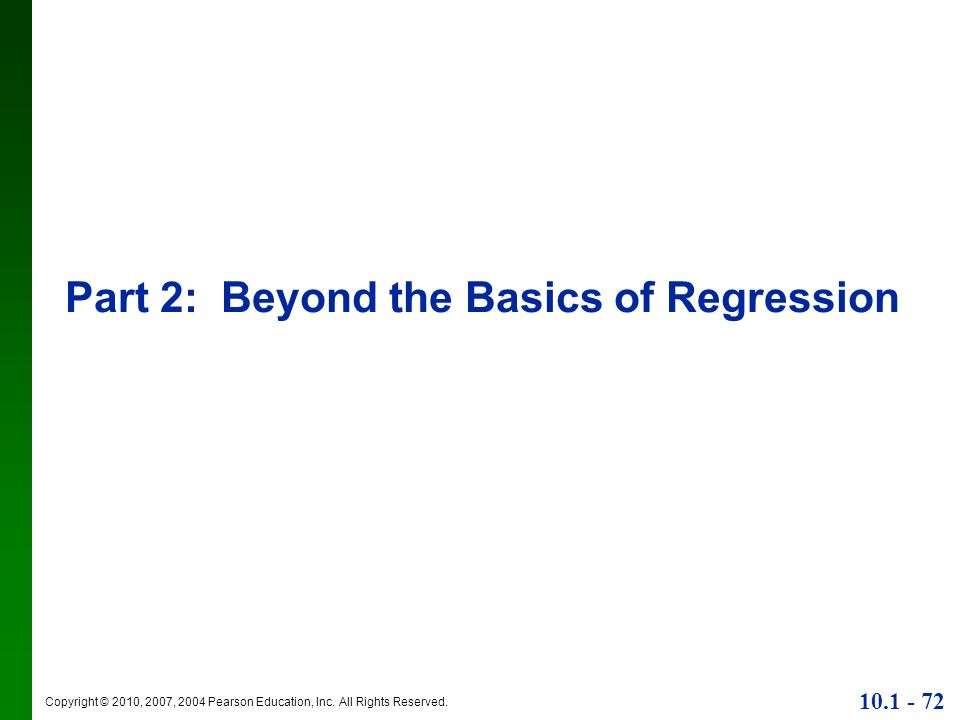 Part 2: Beyond the Basics of Regression
