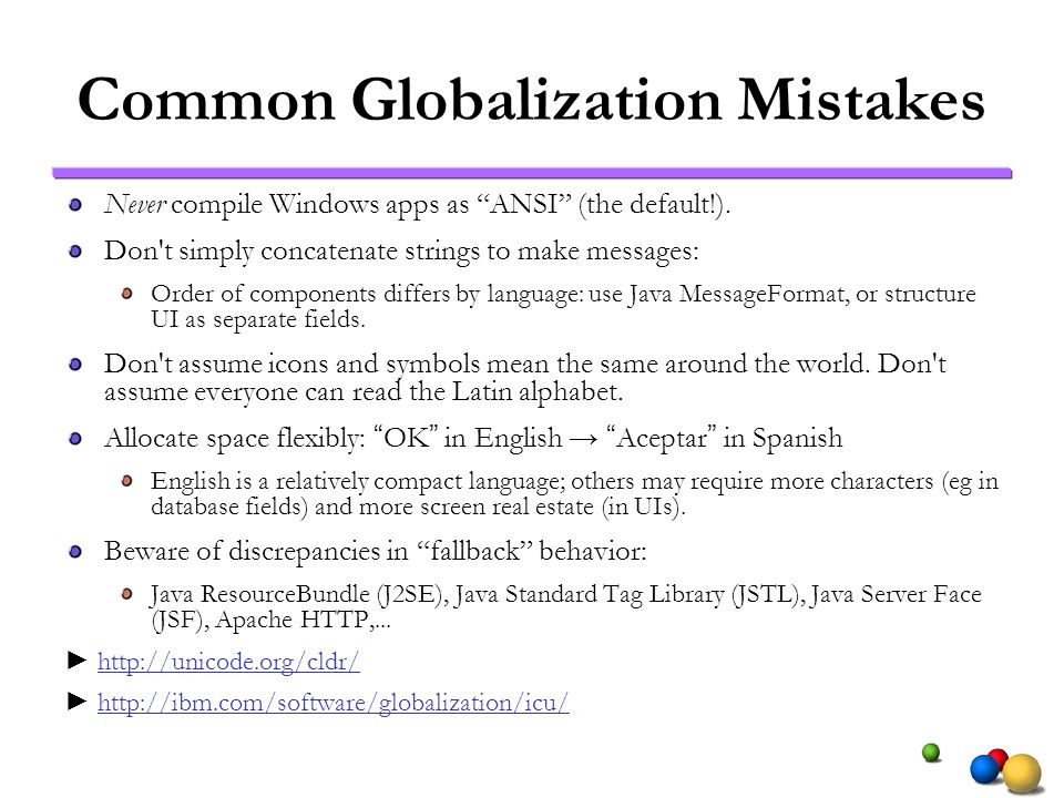 Common Globalization Mistakes