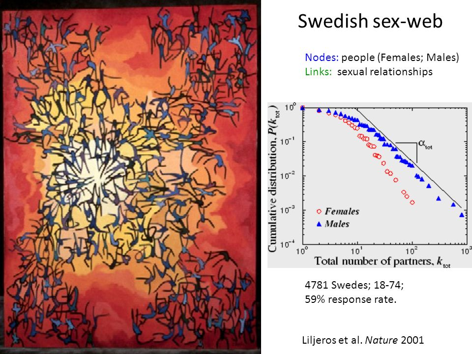 Swedish sex-web Nodes: people (Females; Males)
