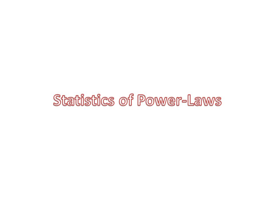 Statistics of Power-Laws