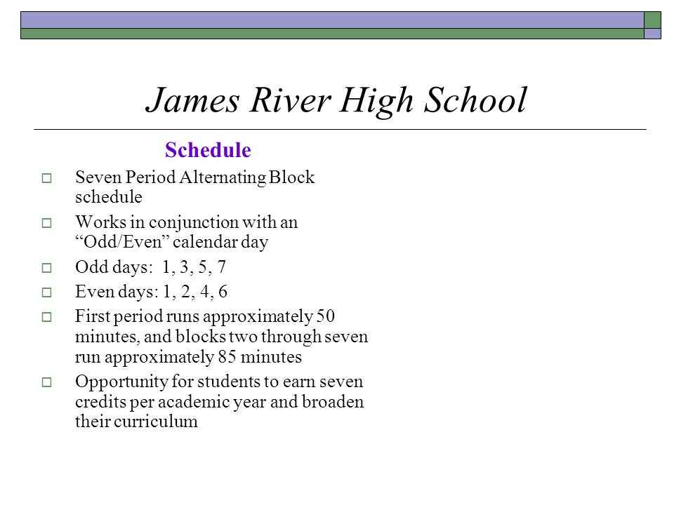 James River High School