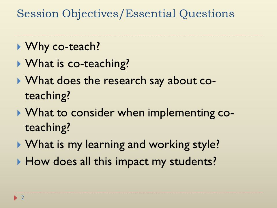 Session Objectives/Essential Questions