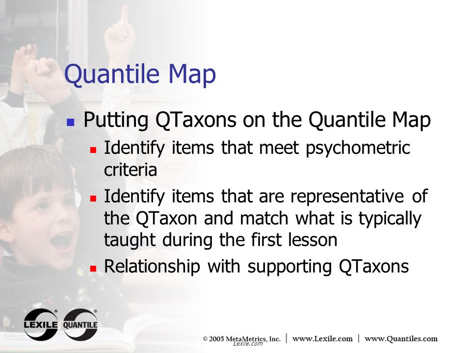 Quantile Map Putting QTaxons on the Quantile Map