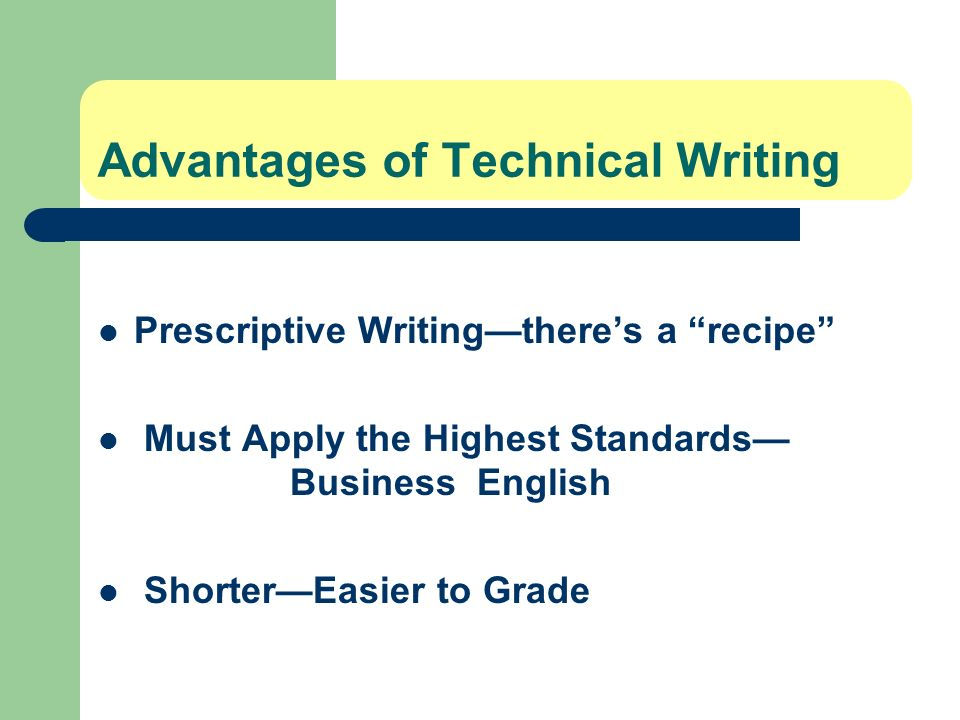 Advantages of Technical Writing