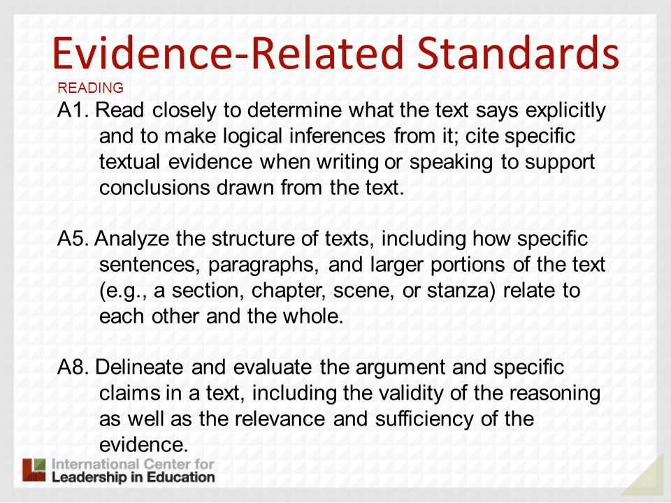 Evidence-Related Standards