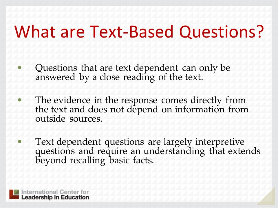 What are Text-Based Questions