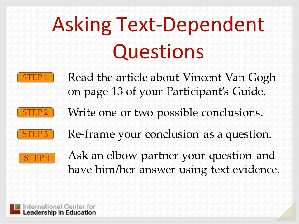Asking Text-Dependent Questions