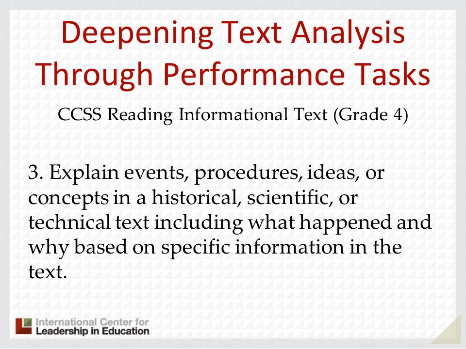 Deepening Text Analysis Through Performance Tasks