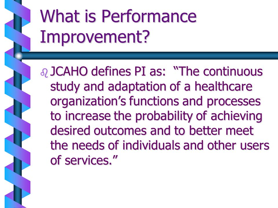 What is Performance Improvement