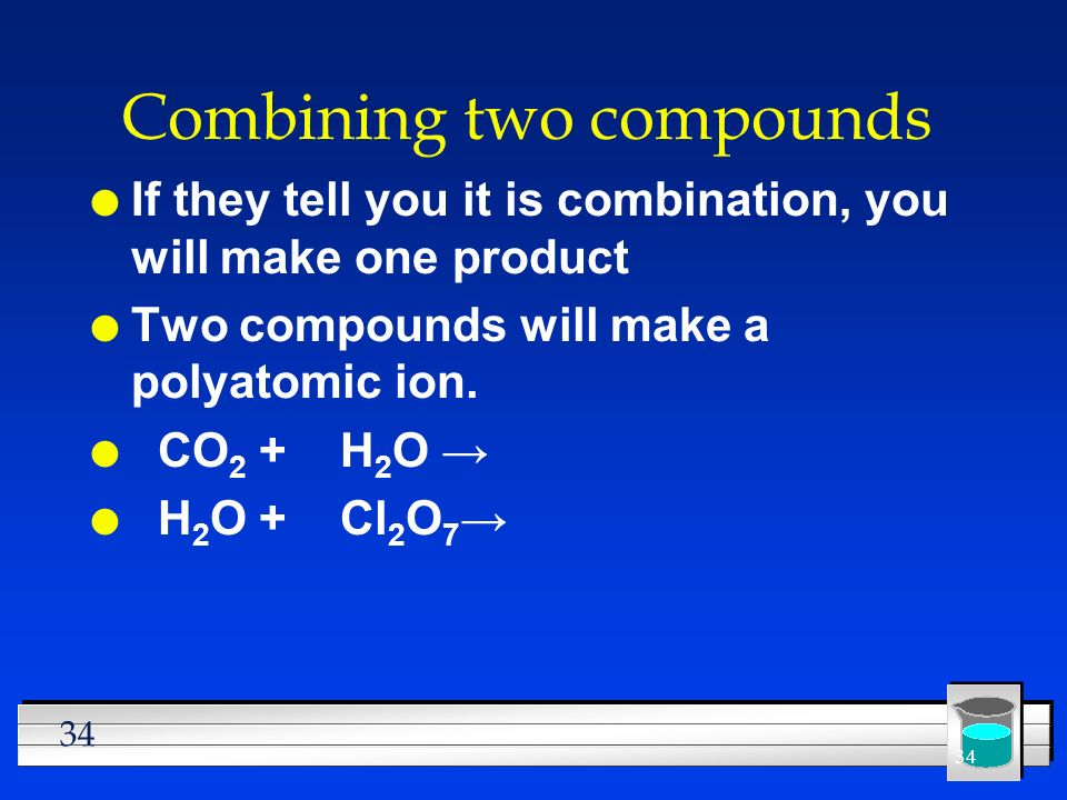 Combining two compounds