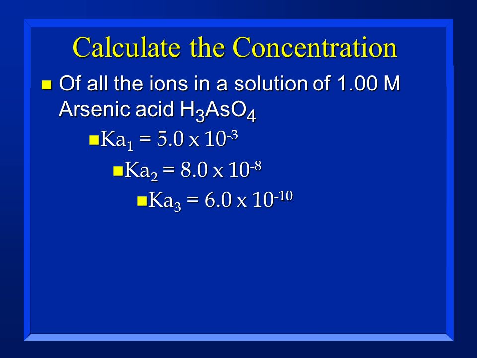 Calculate the Concentration