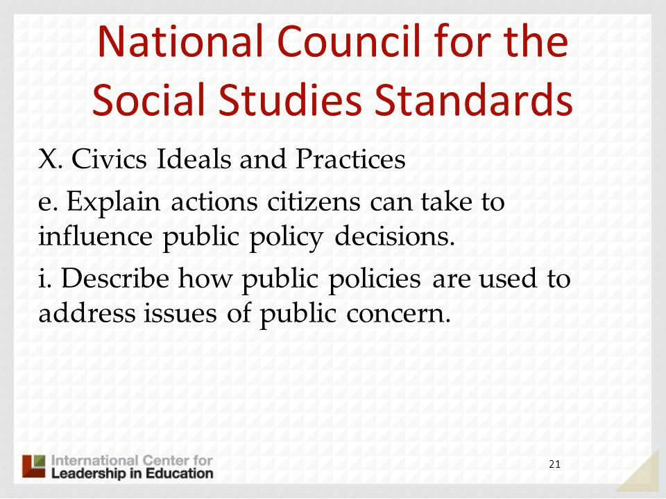 National Council for the Social Studies Standards