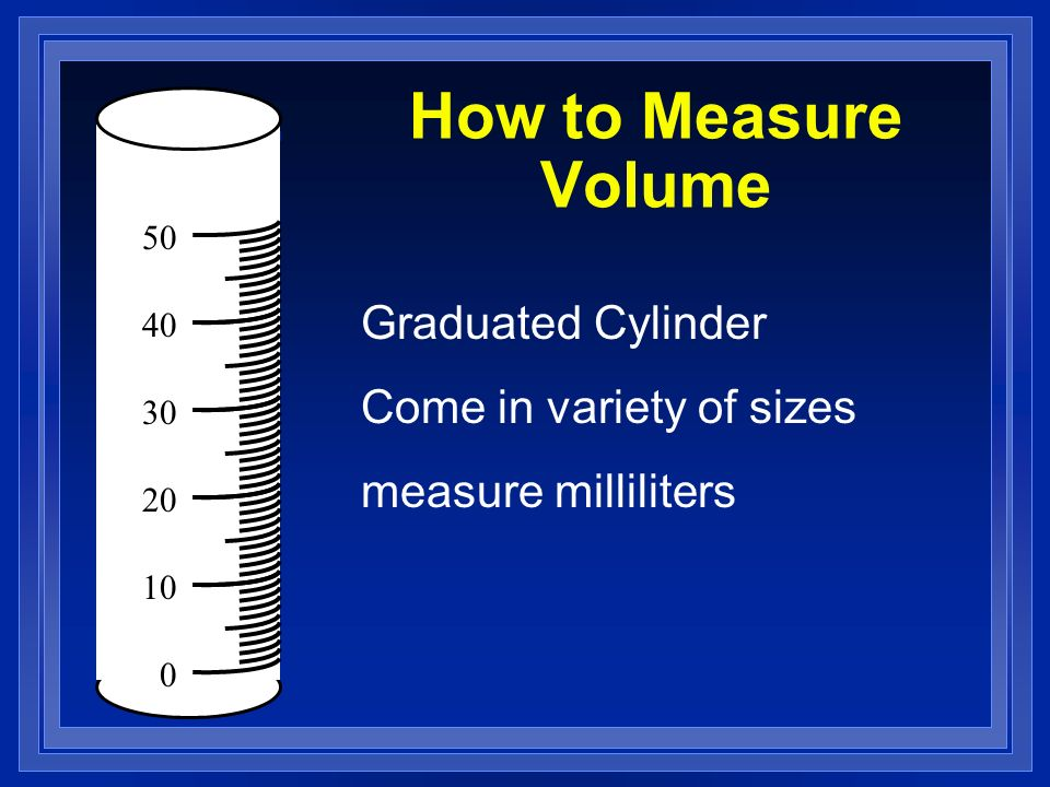 How to Measure Volume Graduated Cylinder Come in variety of sizes