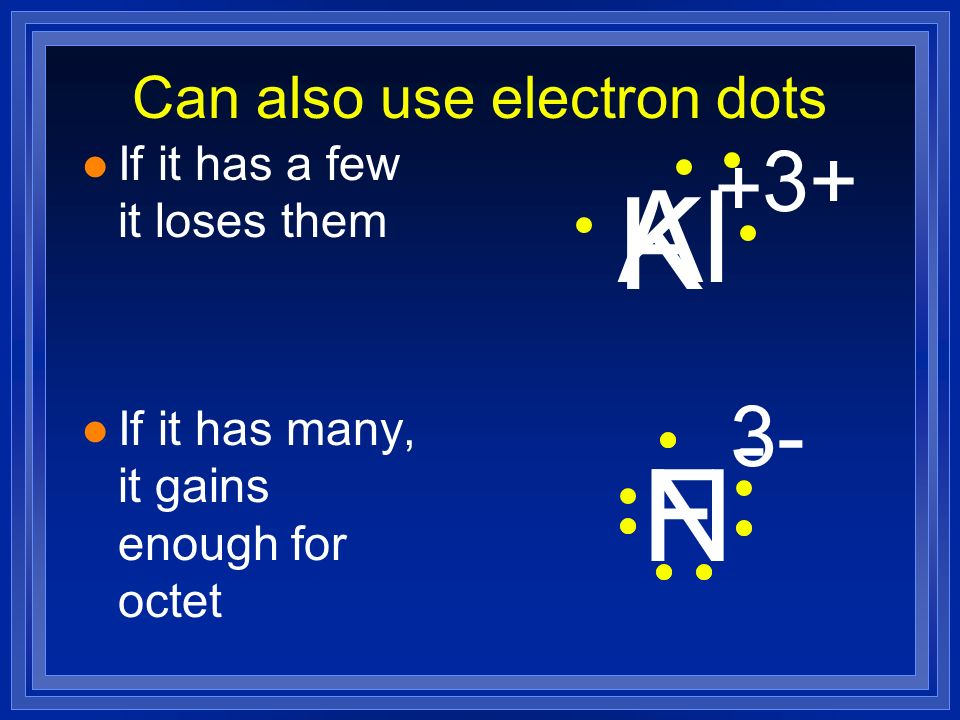 Can also use electron dots