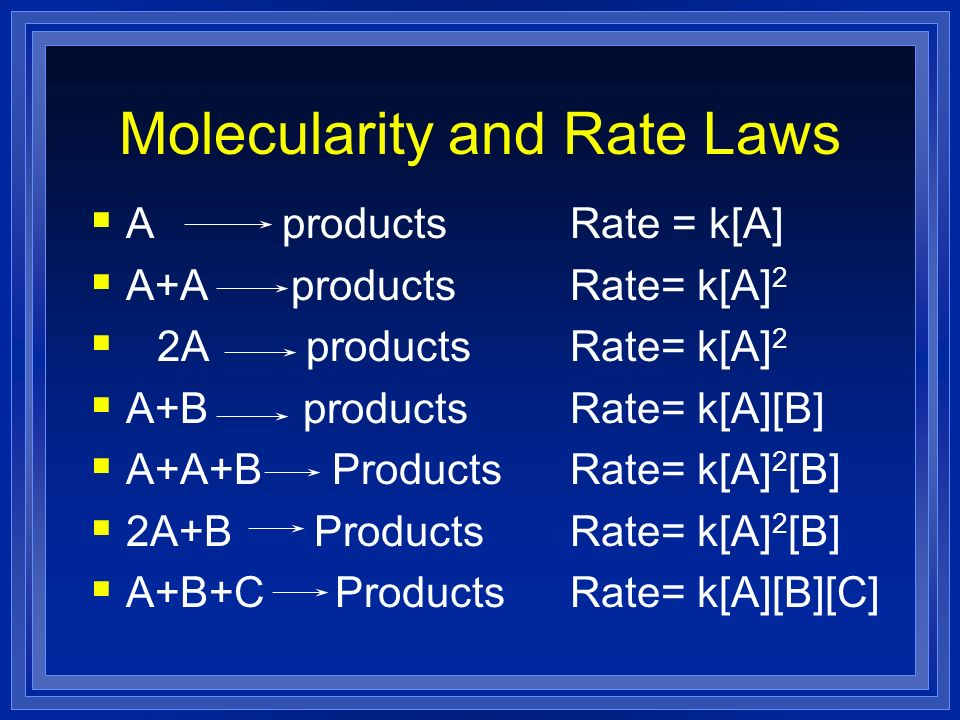 Molecularity and Rate Laws