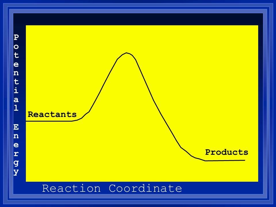Potential Energy Reactants Products Reaction Coordinate