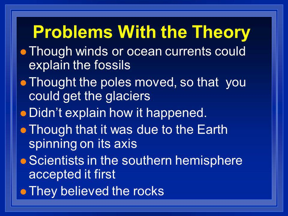 Problems With the Theory